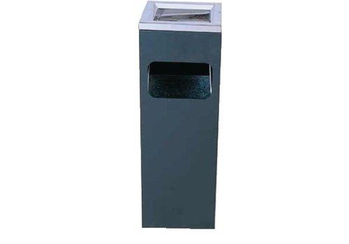 Bolero Cendrier poubelle carré | 200 x 200 x 600 mm