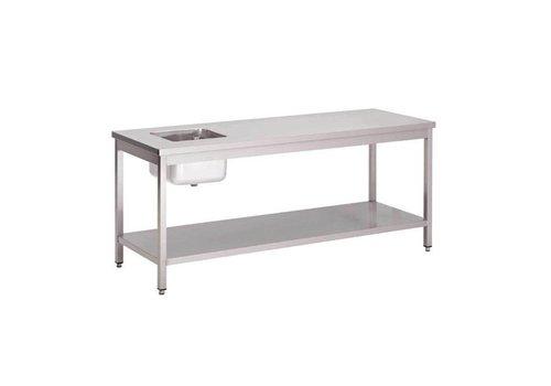 Gastro-M Table du chef inox avec étagère basse 1200 x 700 x 850mm