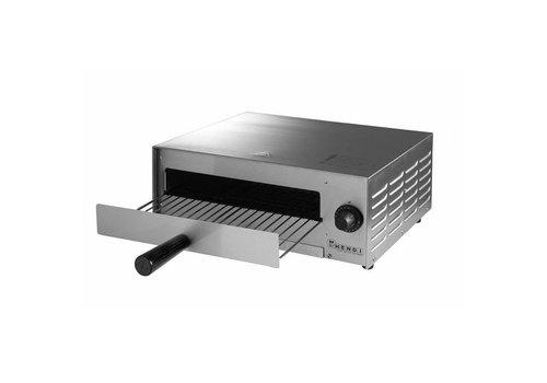 Hendi Four À Pizza   52 x 47 x 23 cm   P électrique 1300W   acier inoxydable