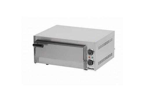 Bartscher Four pizza Mini | 2 kW | 0 °C a 300 °C | 545 x 500 x 230 mm | Acier inoxydable