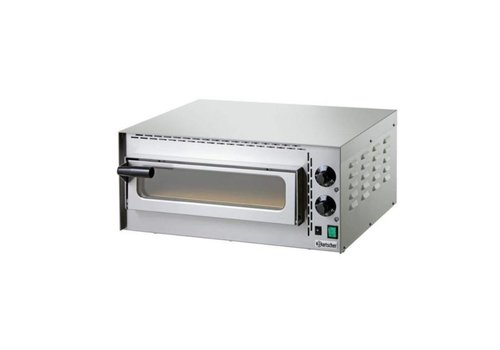 "Bartscher Four pizza ""Mini Plus"" | 2 kW | 575 x 525 x 270 mm | 0 °C a 400 °C | Acier inoxydable"