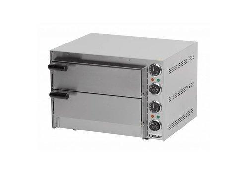Bartscher Four pizza Mini | 2.7 kW | 545 x 500 x 380 mm | 0 °C a 300 °C | Acier inoxydable