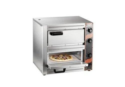 Saro Four À Pizza Modèle PALERMO 2 | L 530 x P 430 x H 520 mm | +50/+320 °C | acier inoxydable
