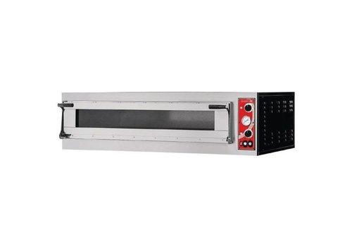 Gastro-M Four à pizza Milan 1 Gastro M avec 1 chambre | 413(H) x 1360(L) x 600(P)mm | 4,4 kW | acier inoxydable