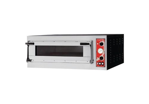 Gastro-M Four à pizza Rome 1 Gastro M avec 1 chambre | 413(H) x 1000(L) x 954(P)mm | 230V | acier inoxydable