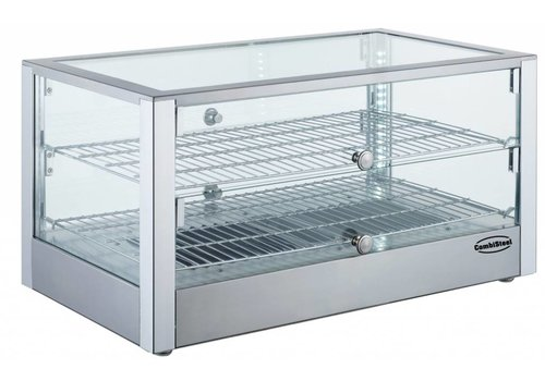 Combisteel Vitrine Chauffante | 2 grilles | 70x40x38cm
