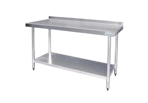 Vogue Table de préparation avec rebord en acier inoxydable