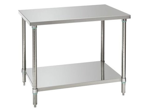 Bartscher Tables de travail avec étagère 100x70x86-90 cm