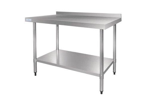 Vogue Tables en acier inoxydable avec rebord