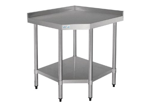 Vogue Table d'angle inox 700mm