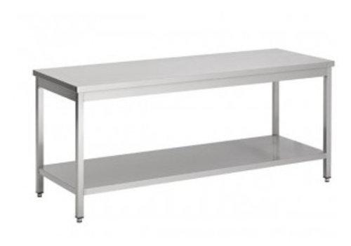 Combisteel Table de travail en acier inoxydable avec étagère   7 Dimensions