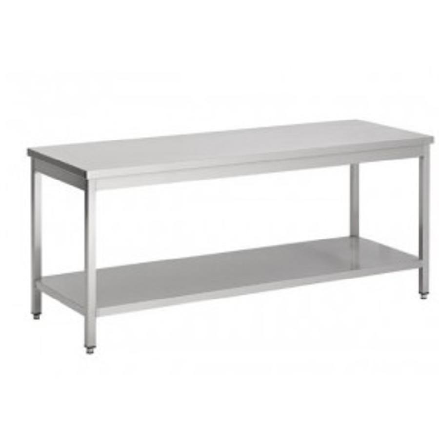 Table de travail en acier inoxydable avec étagère | 7 Dimensions