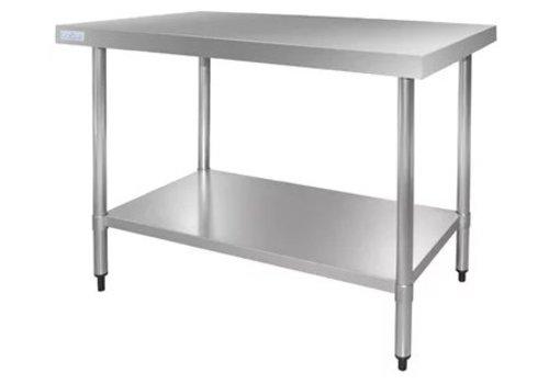 Vogue Tables et acier inoxydable sans bride, profondeur 700 mm