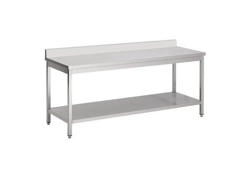 Combisteel Table de travail en acier inoxydable démontable (D)70cm | 7 Dimensions