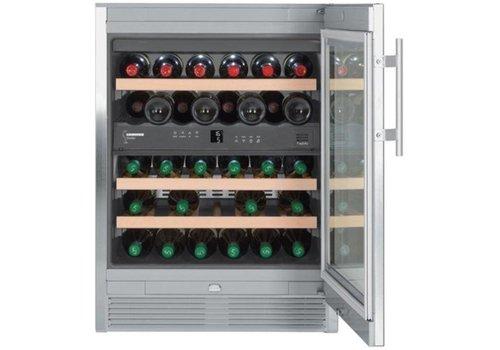 Liebherr Armoire réfrigérée en acier inoxydable 34 bouteilles