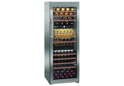 Liebherr Rafraîchisseur à vin en acier inoxydable 178 bouteilles