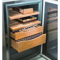 Armoire à cigares Acier inoxydable | 43 litres