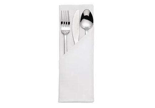 ProChef Serviettes blanches en coton | Satin | 55 x 55cm | 10 pièces
