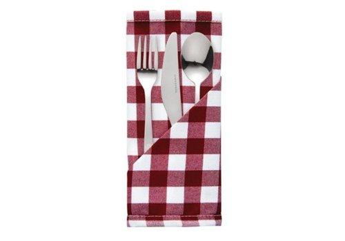 ProChef Serviette de table rouge et blanche | Confort | 46 x 46 cm | 10 pièces
