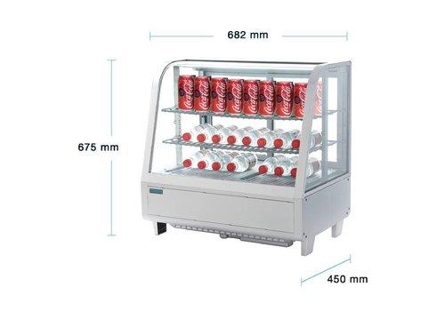 Polar Vitrine réfrigérée de comptoir | Blanche | 100L