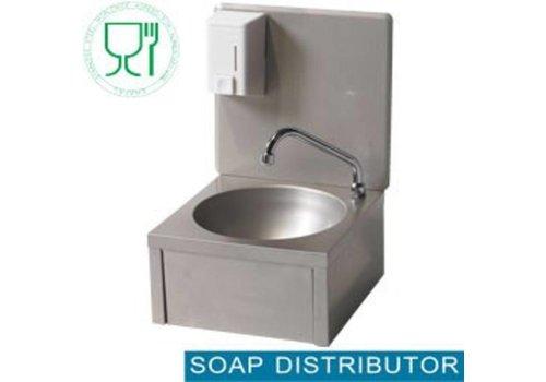 Diamond Évier en acier inoxydable avec genouillère et distributeur de savon