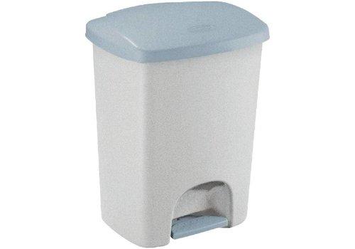 Rubbermaid Bac à pédale en plastique gris | 40 litres