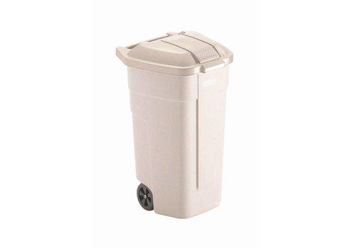 Rubbermaid Rouleau beige avec couvercle   100 litres