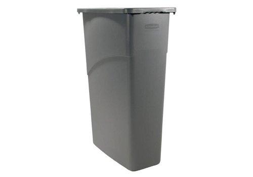 Rubbermaid Poubelle Slim Jim plastique   87 litres