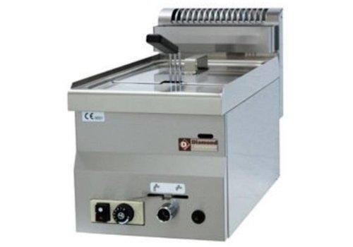Diamond Friteuse à gaz 8 litres Modèle de table 6.8 Kw | 300x600x(h)280 mm | 90°C et 190°C