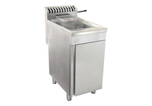 Saro Friteuse à gaz 1 x 20 litres -16500 Watt   L 400 x P 700 x H 850 mm   jusqu'à 190°C