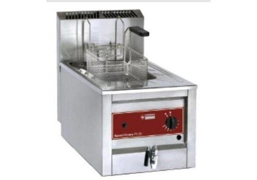Diamond Friteuse gaz inox | 12 litres | Jusqu'à 190°C | Vanne de vidange incluse | 400x600xh525 mm