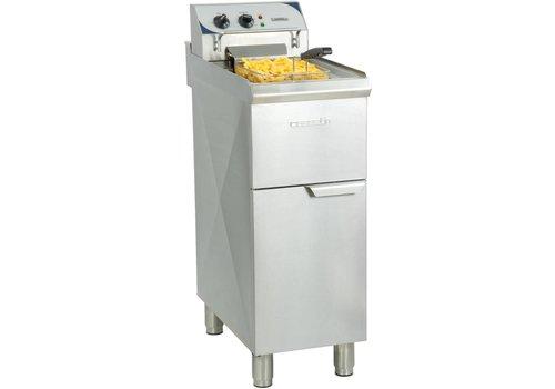 Casselin Friteuse électrique sur pieds 10 litres haut rendement | 60°C à 200°C | L 357 x P 700  x H 1080 mm | 9 000 W
