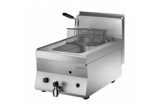 Bartscher Friteuse à gaz - 1 x 8 litres | L 400 x P 650 x H 295 mm | 7 kW