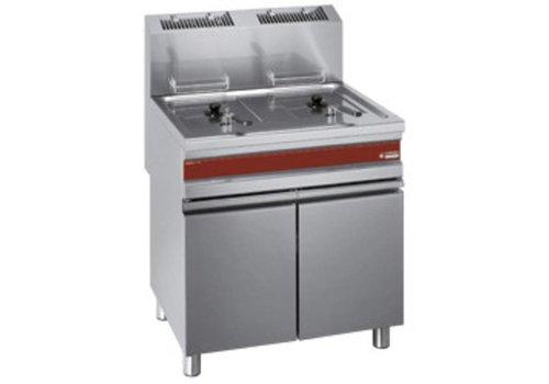 Diamond Friteuse à gaz 2 x 15 litres   750x650x845 mm   de 110°C à 190°C