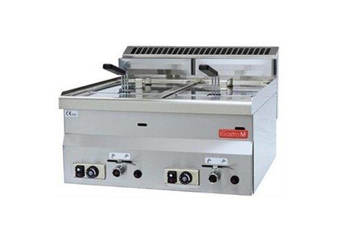 Gastro-M Friteuse à gaz 2x 8 litres | version gaz naturel | 28(h) x 60(l) x 60(p) cm