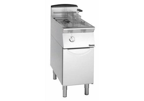 Bartscher Friteuse à gaz avec base 2 x 8 litres   L 400 x P 700 x H 850 mm   12 kW