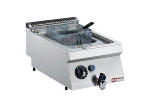 Diamond Friteuse au gaz inox | 7 litres | Avec zone froide | 120°C et 190°C | 400x700x(h)250/320mm