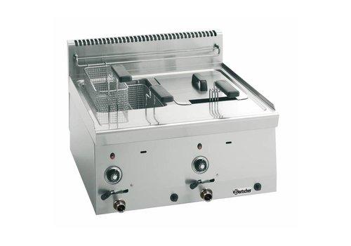 Bartscher Friteuse à gaz 2 x 8 litres | L 600 x P 600 x H 290 mm | 13,4 kW