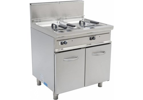 Saro Friteuse à gaz avec pieds 2 x 13 litres - HEAVY DUTY   L 800 x P 700 x H 850 mm   22,4 kW
