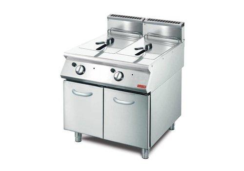 Gastro-M friteuse à gaz 2 x 13L   85 x 80 x 70 cm   20.4kW