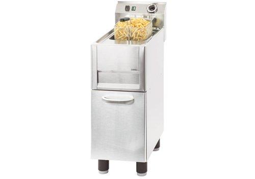Casselin Friteuse électrique sur pieds 13 litres | L 330 x P 600 x H 860-920 mm | 50°C à 190°C | 9 900 W
