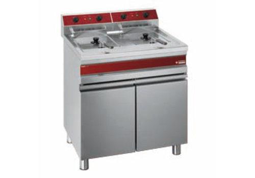 Diamond Friteuse électrique 2 cuves de 14 litres sur armoire | 18 kW | 750x655x845 mm