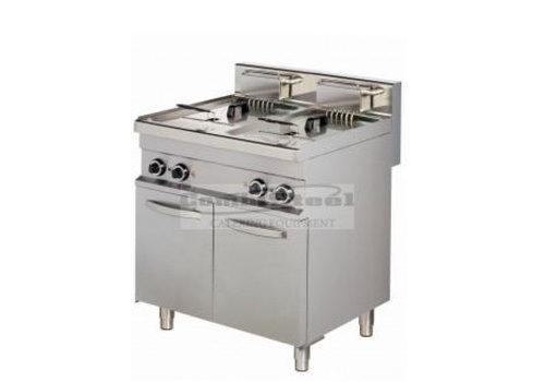 Combisteel Base 700 friteuse 2X10 L | 800 x 700 x 900 mm | 2 x 9 kW