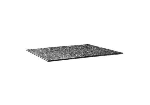 ProChef Plateau de table rectangulaire Smartline 120x80cm granite noir