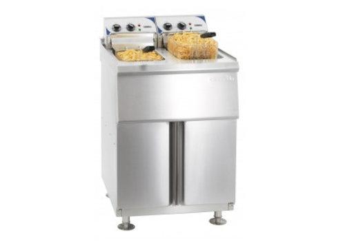 Casselin Friteuse électrique sur pieds 2 x 10 litres haut rendement | 60°C à 200°C | L 630 x P 690 x H 1050 mm | 2 x 9000 W