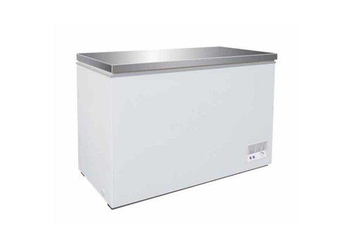 Combisteel Congélateur avec couvercle en inox 260 Litres 105,5x57,5/63x84,5cm