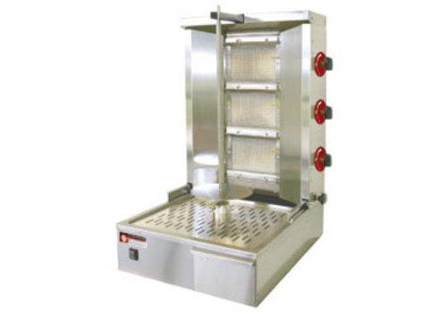 Diamond Gyros grill gaz 35 kg | acier inoxydable | 1 broche complète