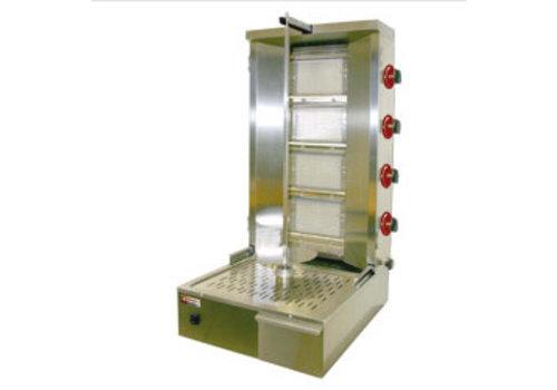 Diamond Gyros grill gaz 55 kg | broche h. 800 mm