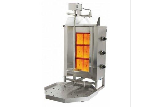Saro Doner Kebab Gaz Modèle Sirus | acier inoxydable | L 450 x P 560 x H987 mm