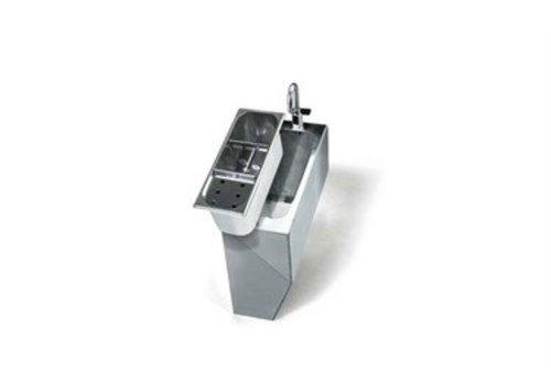 ProChef Boîtier en acier inoxydable - Comprend un robinet d'alimentation avec levier